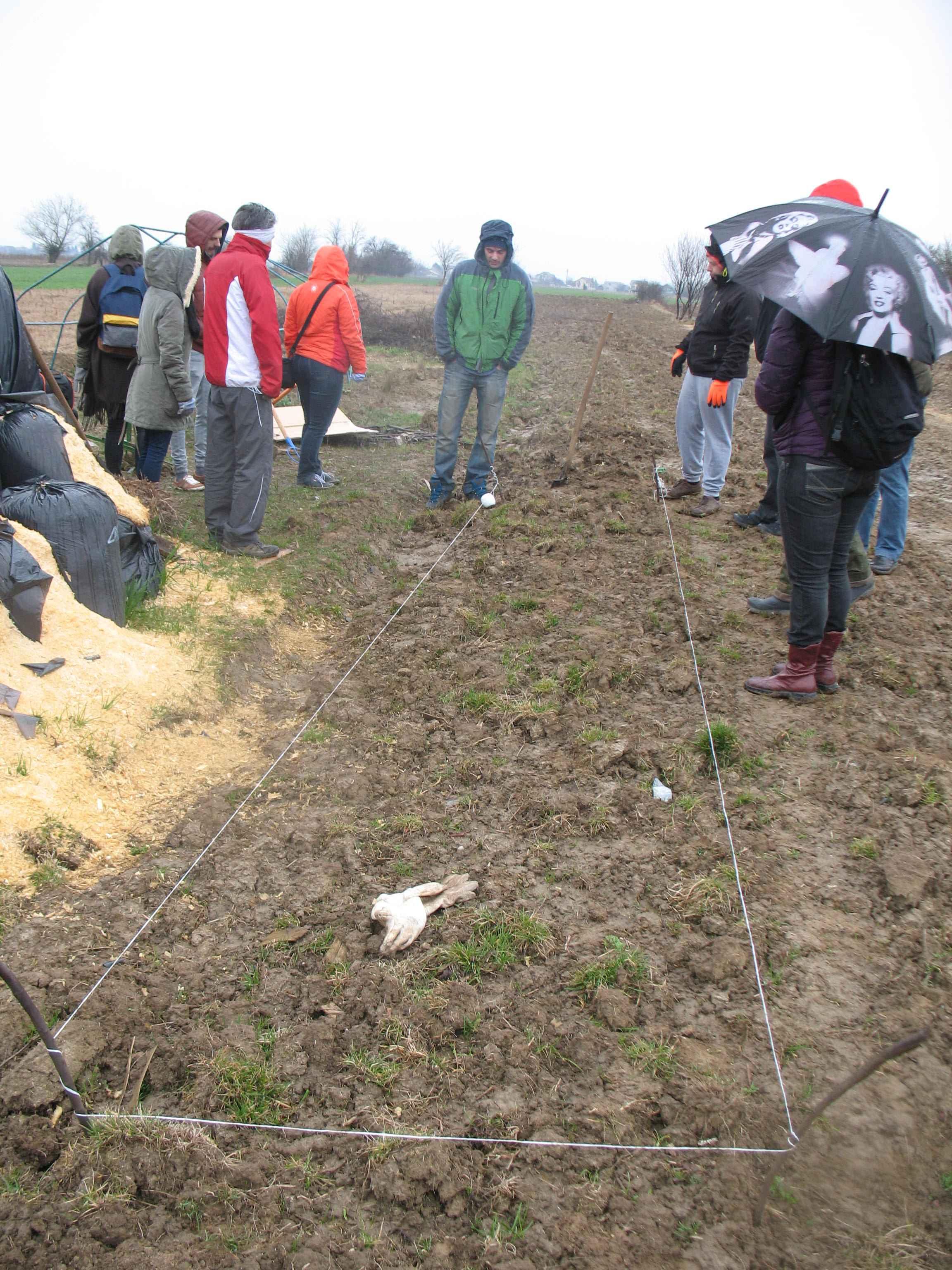 Gradina de permacultura - marcarea terenului