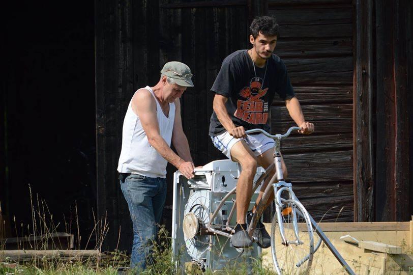 Masina de spalat cu pedale!